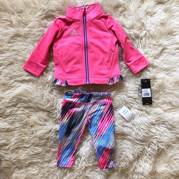 3ac34fbbd adidas Matching Sets | Two Piece Zip Jacket And Pants Set Nwt | Poshmark